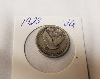 1929  Standing Liberty Quarter very Good condition