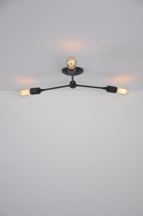 Ceiling mounted light fixture flush mount light matte black aloadofball Choice Image