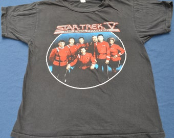Vintage 1989 Star Trek The Final Frontier Shirt Size L Tee Shirt Television Star Wars TV Sci-Fi  Space Show