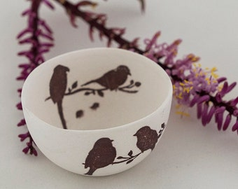 Porcelain bowl - two birds