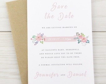 SAMPLE * Summer Blossom Save the Date Cards