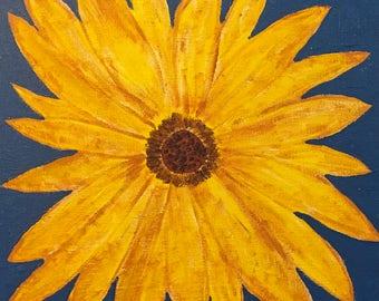 Sunflowers art cards - original art - blank inside with envelope