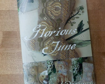 Glorious June, 3 Stockings for June, by Blackbird Designs...cross-stitch design