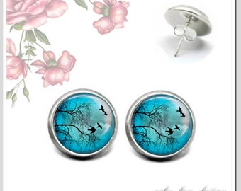 Stud Earrings 5 Colours for Choice Bird Romance 2 Osh-012-142