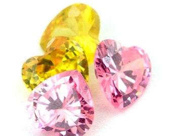60% SALE 12 Carat Heart Shape Zircon Gemstone Lot