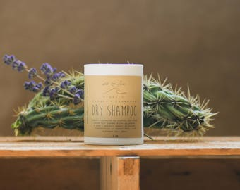 dry shampoo ~ patchouli, lavender, & ginger ~ all organic ~ natural hair care ~ powder ~ glass jar or sifter