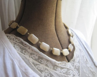 "neutral statement necklace, Anna Wintour,  collet, statement necklaces, georgian jewelry, Jane Austen, Regency, art deco. ""Blissful"""