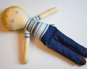 Cloth Doll - Blonde Boy