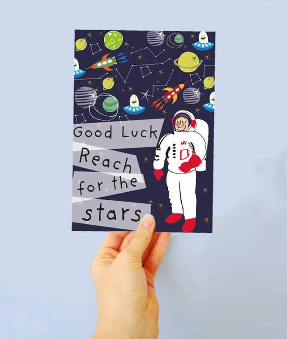 Reach for the Stars Greetings cards - good luck card - go for it - new job - birthday card - good luck