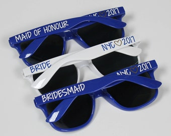 Personalized Sunglasses, Custom Wedding Favors, Bachelorette Gifts, Bachelorette Party Favors, Girls Weekend, Birthday Sunglasses
