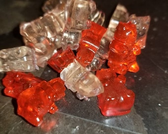 White and blush wine gummy bears