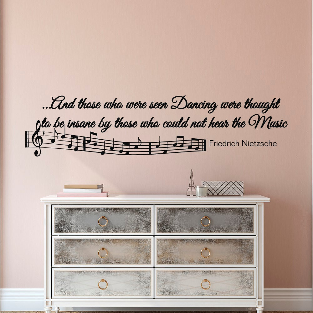 Music Notes Wall Decals Quotes Vinyl Lettering And Those Who