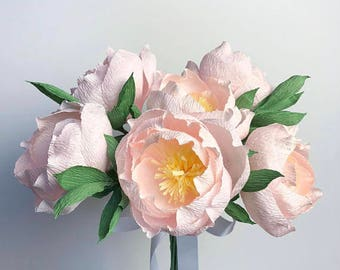 Large Paper Peony Bouquet
