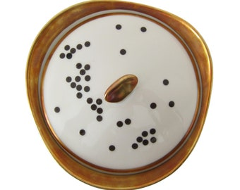 Black Dots Porcelain Stickers