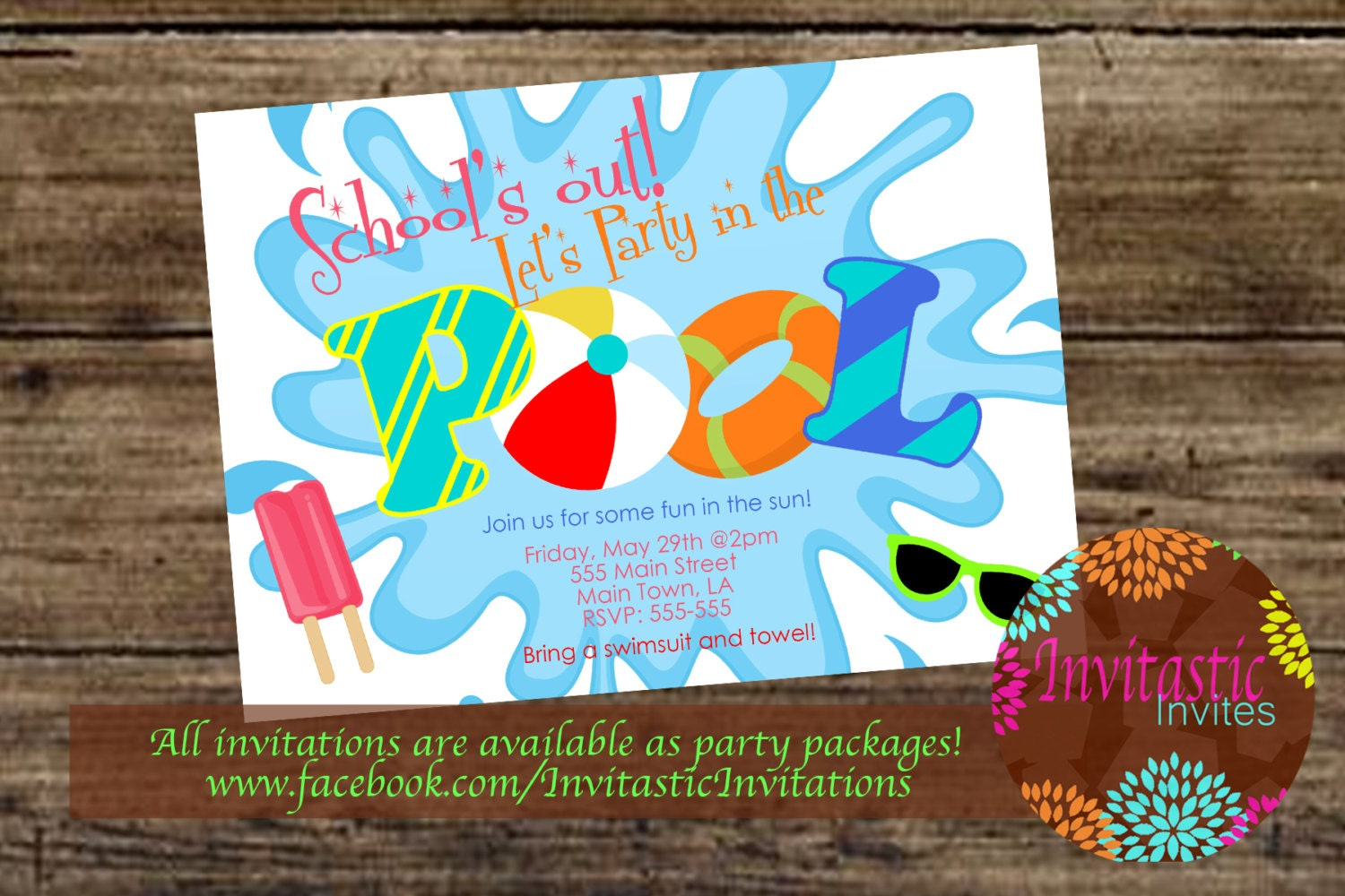 Pool Party End of the School year party graduation party