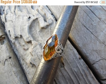 ON SALE Gorgeous Madeira citrine ring handmade in sterling silver 925