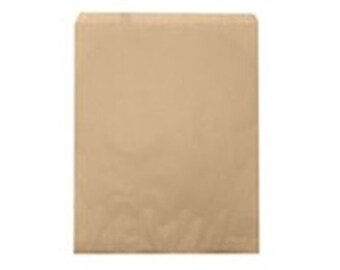 """500 Kraft Merchandise Retail Paper Party Favor Gift Bags 8.5"""" x 11"""" Tall"""