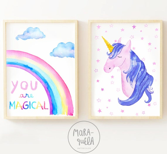 Set You are MAGICAL / UNICORN and RAINBOW