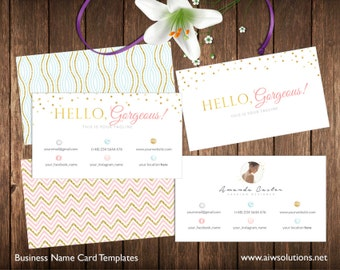 Stylist Business Card Template, Calling Card Template,gold glitter card,  Photography name card, pink and gold name card,spa business card