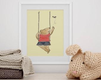 Baby Bear Art, Kids Bear Print, Bear Print for Kids, Teddy Bear Art, Kids Art, Kids Prints, Cute Art for Kids, Cute Childrens Art