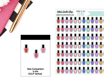 Colorful Nail Polish Planner Stickers