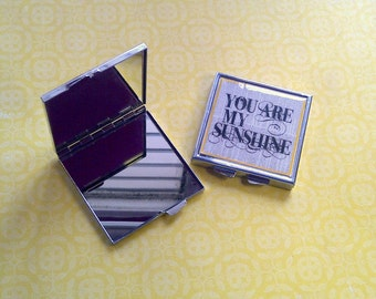 Custom Photo Mirror Compact Square