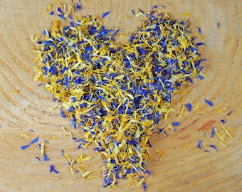 Real flower confetti, biodegradable confetti, petal confetti, wedding confetti, eco wedding, eco confetti, dried flowers, flower petals
