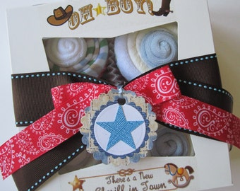 Baby Boy Onsie, Bib, Socks and Washcloth 9 Piece Cute Cupcake Set