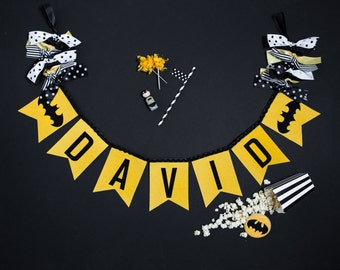 SUPERHERO BANNER / Bat Man banner / Superhero baby shower banner / Super hero banner / Super hero party / Superhero birthday banner / Banner