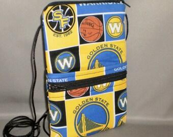 Golden State Warriors - Smart Phone Purse - Passport Purse - Sling Bag - Hipster - Wallet on a String - Basketball
