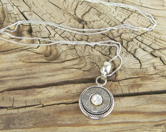 Bullet Necklace / Custom Nickel Sterling Silver Rope Necklace WIN-#-N-ROPN / Rope Necklace / Sterling Silver / Custom Necklace / Comfortable