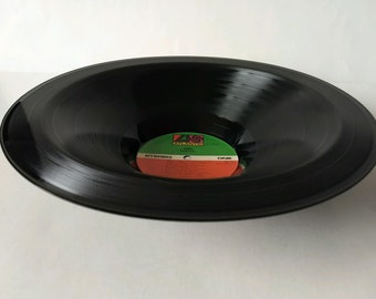 "ABBA Smooth Record Bowl Hand Made from Authentic Vinyl Record ""Arrival"""