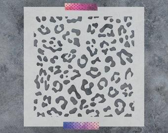 Leopard Print Stencil - Reusable DIY Craft Stencils of a Leopard Print Pattern