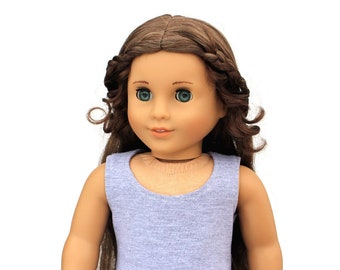 SAMPLE SALE - Fits like American Girl Doll Clothes - Scoop Neck Tank Top in Heather Gray | 18 Inch Doll Clothes