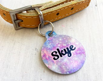 Dog Tag - Pastel Universe - Collar Tag - Pet Name Tags - Dog Tags - Cat ID Tags