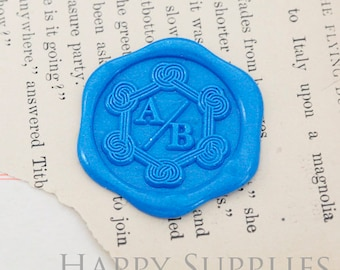 1pcs Personalized Initial Alphabet Gold Plated Wax Seal Stamp (WS470) / Custom Monogram Calligraphy Wedding Invitation Sealing Wax Stamp
