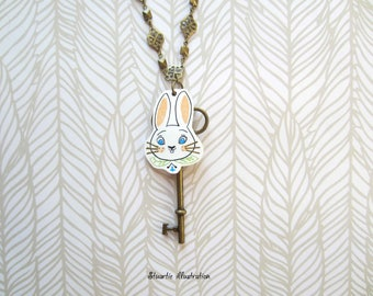 long necklace, the rabbit from alice in Wonderland