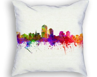 Albuquerque New Mexico Throw Pillow, 18x18, Cushion Home Decor, Gift Idea, Pillow Case 02