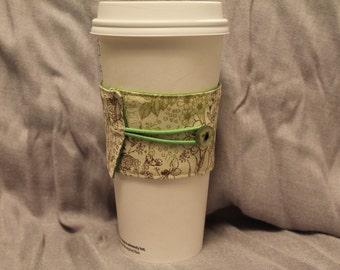 Delicate Flowers Reversable Coffee Cozy