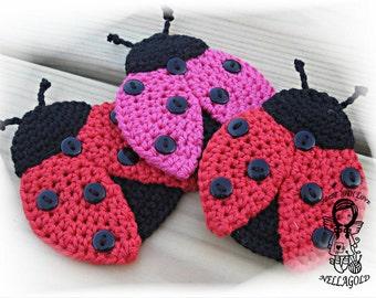 Crochet PATTERN, Applique Ladybug, Patch, Brooch, Application Ladybird, DIY Pattern 159