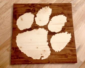 Clemson Tiger Paw Wall Art