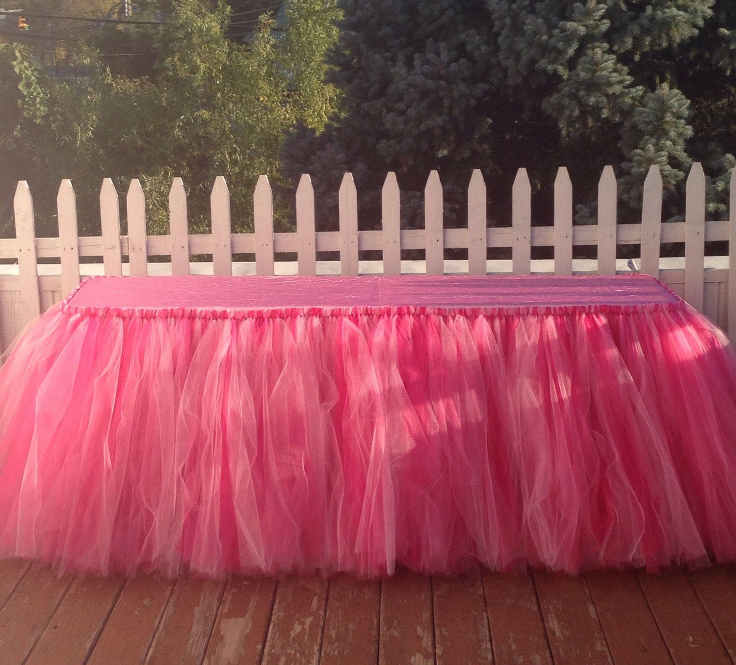 17 Feet Tulle Tableclothtutu Table Skirtstutu Party