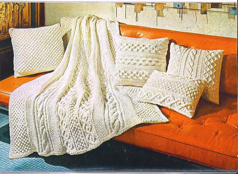 Knitting pattern aran afghan pillows 017 zoom bankloansurffo Choice Image
