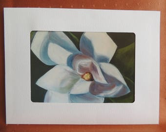 Magnolia  Blank Note Card