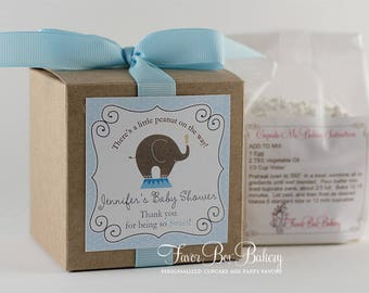 LITTLE PEANUT on the WAY...One Dozen (12) Personalized Cupcake Mix Baby Shower Baby Sprinkle Favors