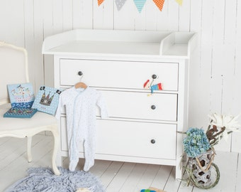 Cloud 7 Changing Table Top For IKEA Hemnes Dresser White