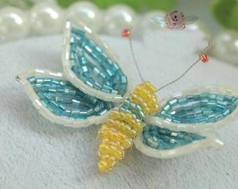 5pcs 6x4.5cm wide blue butterfly beads appliques patches D31R1168L0121T free ship