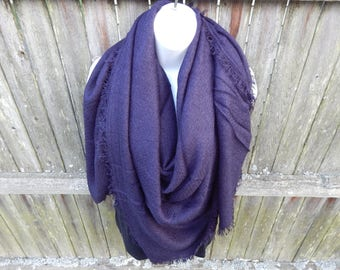Navy Blue Blanket Scarf