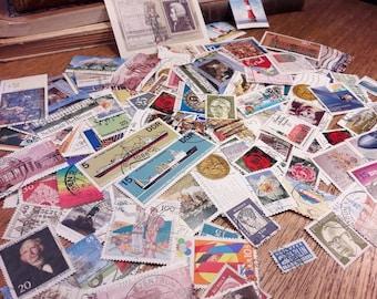 100 German Postage Stamps