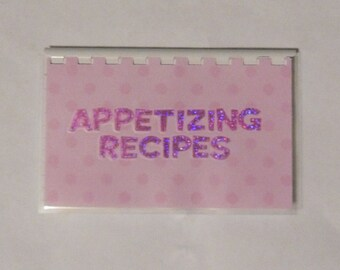 Handmade Pink 'Appetizing Recipes' Blank Recipe book for Your Personal Recipes